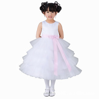 Free shipping  Girl's  dress, flower girls dress  princess  ball gown dress with beauty bow Item 2290