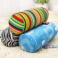 Weiwei print cylindrical neck pillow