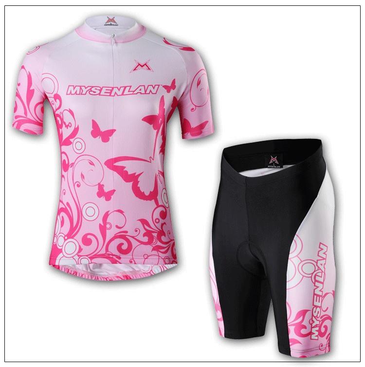 Feminino de manga curta Ciclismo Jersey bicicleta Vestuário e Calções de Ciclismo Suit Mulheres Esporte Ciclismo shirt do desgaste S-2XL Frete Grátis(China (Mainland))