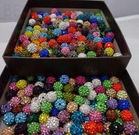 10mm 500pcs/lot Mixed color in random CZ Disco Ball Shamballa Crystal  Beads.Wholesale! Stock!Mixed Lot!Bracelet DIY jewelry