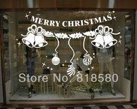 Free Shipping Home Decor Christmas Bells Window Vinyl Wall Art Stickers Wall Decals(90 x 60cm/piece)