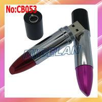 Free shipping Wholesale 2GB 4GB 8GB 16GB 32GB 64GB Red and Pink Lipstick USB Flash Memory Pen Drive Stick Disk,pen drive #CB053