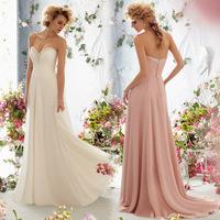 2014 New Europe Fashion Bride Formal Dress Strapless Chiffon Backless Sexy Wedding Dress Slim Fit Training Wedding Dresses A451