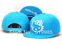 Hello Kitty Snapback hats cheap fashion brand mens women adjustable baseball caps hip-hop cap Free Shipping