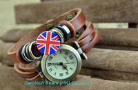 Fashion UK Style Vintage Women Genuine Leather Strap Bracelet Watch Ladie's Quartz Wristwatch, 300pcs free shipping via dhl