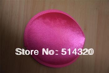 B045 Hot Pink Satin TearDrop Millinery Hat Fascinator and Headpieces Base DIY Craft  Wholesale