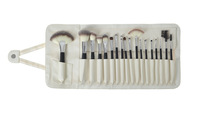 Free shipping Professional 18pcs Premium three-color Soft Synthetic Made Up Brushes (UNIQUE IN MARKET)