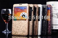 Luxury Diamond Pattern Plated Metal Flip Case For Samsung N9000 Galaxy Note3