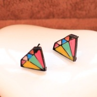 Fashion Vintage colorful Color Superman sign earrings for women 2013