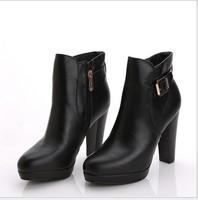 Woman High Heel Boot Platform Ankle Boots Winter Short Boots