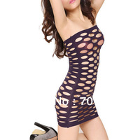 Free Shipping Women's Sexy Night Wear Netty Exposed Breast Jumpsuit 20334