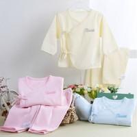 Four seasons 100% newborn cotton monk clothing piece set
