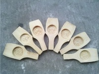 1 PCS Flower Lotus Leaves Round Single Traditional Moon Cake Bake Wooden Mould