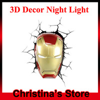 Dreammaster 80020 3D Iron Man Mask Style Wall Lamp LED 3D Decor Night Light