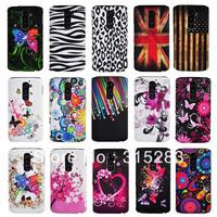 1PCS New Flower butterfly shooting star jellyfish zebra UK US Flag Hard back Case Cover For LG Optimus G2 D802 F320