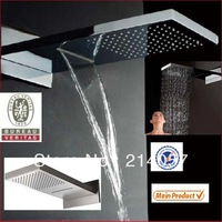 rainfall waterfall shower head230*554*30mm luxury wall mounted rainfall shower head dual headed shower head