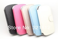 Luxury Silk Wallet Leather case For Samsung Galaxy Xcover 2 S7710 Purse Credit Card Stand Holder Pouch Pouches 50pcs Wholesale