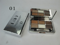 Free Shipping By DHL 12pcs/lot Brand Name D CD PALETTE FARDS 6- COLOUR EYESHADOW 18G 6 Color Make Up Eye shadow  6 Style Color