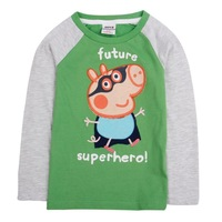 FREE SHIPPING A4130# Nova kids wear striped long sleeve cartoon train t-shirts for baby boys