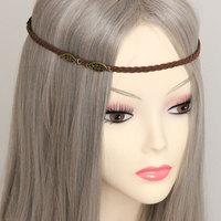 Free shipping Wholesale Jewelry Women Girls Metal Retro Handmade Braid Floral Elastic Hair Band Headband Hairband Vintage Style
