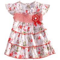 FREE SHIPPING H2739# 12m/5y 5pcs/lot 2013 hot selling NOVA kids wear applique fashion flowers baby girls' denim dress