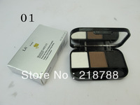 Free Shipping  4PC/LOT 2013  Newest  L 3  Colors Eyebrow Enhancer/brow powder/eyebrow shade With mirror and brush