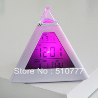 2013 hot sale Novelty Led Night Light Nature Sound Alarm Clock with Color Changing