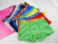 6pcs/lot  The new pure color modal boy boxer briefs modal breathable super soft boy underwear wholesale