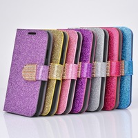 Fashion Glitter Bling Crystal Silk Leather Flip Cover Case For Samsung Galaxy SIII I9300 10pcs/lot