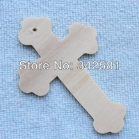 "Free Shipping 100pcs/lot 2""x3"" Mini Crosses Wood Pieces Wooden Plain BOARD Gift Tag For Wedding/Party/Event Holiday Decoration"