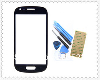 WholesalesBlack Screen Outer Glass Lens with Adhesive and tools for Samsung Galaxy S3 i9300 + Screen Protector Free shipping