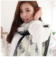 2013 fashion hot sell women's scarf female large size wrap 110*180cm geometry voile scarves long shawl SCARVES-214