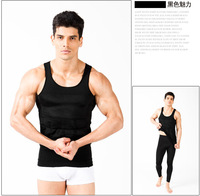 5PCS/lot Thin body vest ,Slimming shirt Shapers  for men, Waist abdomen slimming  beer belly with retail box---free droshipping