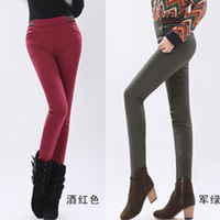 Plus Rongku thick pencil pants female feet were thin stretch pants casual pants Leggings boots pants Korean