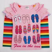 FREESHIPPING F4252# 12m-5y nova kids wear in the night garden cotton Baby girl tunic top cartoon clothing