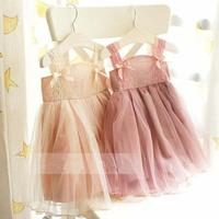 5pcs/lot wholesale Little girl's cotton lovely laces brace princess dress Kids summer clothing/GS6676 Free shipping