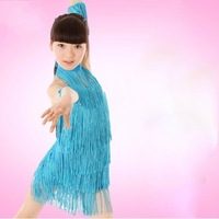 Free shipping Latin dance costume tassel Latin dress with leotard Latin competition clothing girls latin dance dress (XC-033)