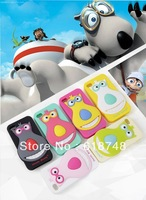 Free Shipping 1PCS 3D Cute Cartoon Big Nose Bear Silicone Skin Soft Case silicon case back cover For iphone 5 5G 5S