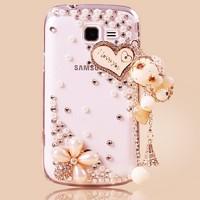 Fashione 3D Bling Crystal Rhinestone Hard Case Cover for Samsung Galaxy Y Duos S6102
