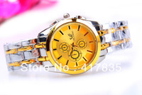 FREE SHIPPING 2013   Men Quartz Watch fashion mickey GOLD Watch Men steel Unisex dress Sport Watch