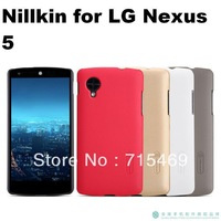 Free shipping 60pcs Nillkin case for  LG Nexus 5  nexus5 Frosted shield phone case + Screen protector +Retail Box