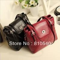 2013 Korean new package with  restoring ancient ways/ the diamond lattice wine red bucket shoulder strap handbag
