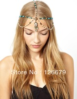 2014 New Arrival Fashion Design Charming Vintage  Head Pieces Chain Hair Jewelry for Women