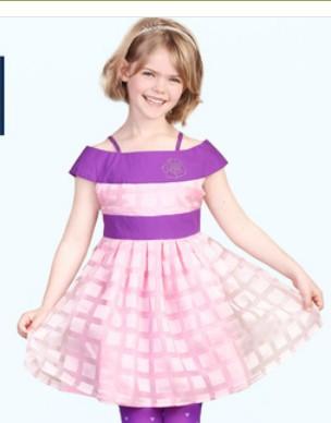 2015 summer models girls dress pink princess dress ladies dress strap dress free shipping(China (Mainland))