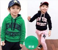 Free shipping 2014 New Letters sport suit leisure suit children hz9D40