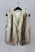 Plush fur faux fur vest fur vest female short design