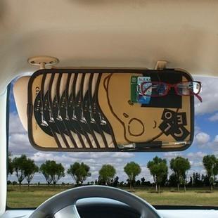 Car cd folder sun-shading board cover car cd bag bear sun-shading board car disc folder(China (Mainland))