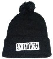 Aint no wifey knitted hat winter cool beanies hat bboy cap elastic dimepiece hiphop cap for men women