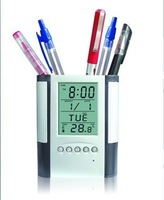 Free shipping Lcd pen transparent pen belt calendar time 50