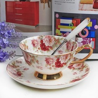 Free shipping, D'angleterre black tea bone china cup rustic coffee cup quality ceramic cup and saucer small 2 cups&2 dishes/lot